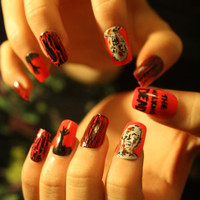 The Walking Dead False Nail Set Falsies Zombie Zombies nails