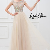 Angela and Alison 41104 Cap Sleeve Prom Dress
