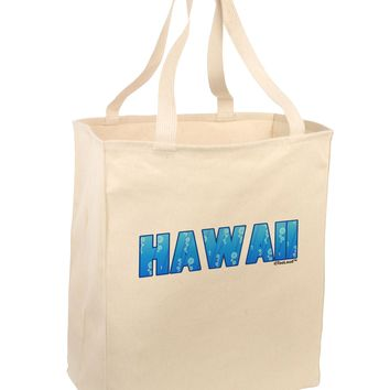 Hawaii Ocean Bubbles Large Grocery Tote Bag by TooLoud
