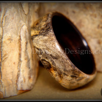 Bentwood Ring - Buckeye Burl on Ebony wood ring handmade using my bentwood and finishing process for a durable and beautiful wood ring.