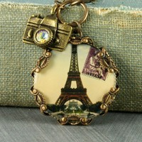 Eiffel Tower Necklace Eiffel Tower Pendant by ForTheCrossJewelry