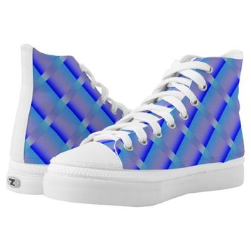 Shades of Blue Printed Shoes