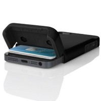 INCIPIO STASHBACK Hybrid Case w/ Credit Card Slot IPH-844 for Apple iPhone 5 (Black)