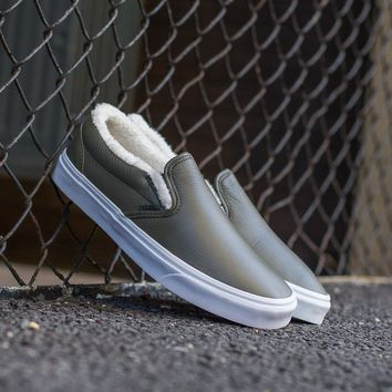 HCXX Vans Leather Sherpa Slip-On VA38F7QTQ