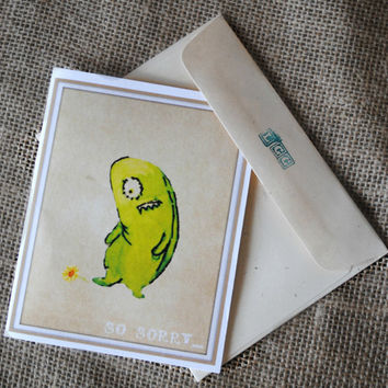 Sympathy Card Sorry Card Apology Card Monster By Innovativemom  Free Printable Apology Cards