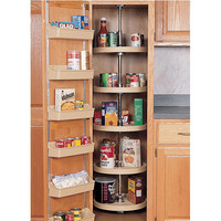 20 inch Full Circle Lazy Susan for Pantry Cabinet - 5 Shelf unit - White