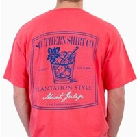 Southern Shirt Company Mint Julep T-Shirt in Sugar Coral