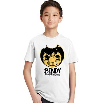 Bendy and The Ink Machine Children's T Shirt Infant Cotton O Neck Kid Tshirt Retro Toddler Clothes Boy Girl T-shirt for Baby