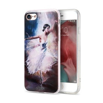 3D Embossed Ballet Girl Cover For iPhone 7 6 6S Plus 5 5S SE Case Print Fundas For Samsung S6 S7 Edge Silicon Phone Cases Coque