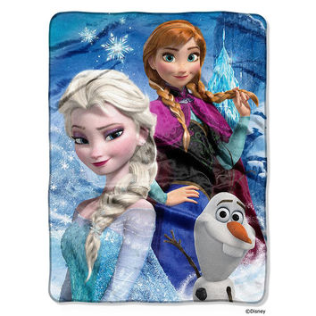 Disney's Frozen Ice Castle Silk Touch Throw (46x60)