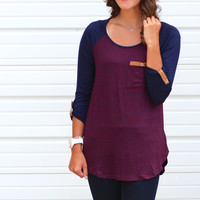 Twilight Raglan Top {Burgundy}