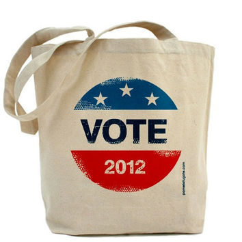 Vote - Canvas Tote Bag - Classic Shopper - FREE SHIPPING