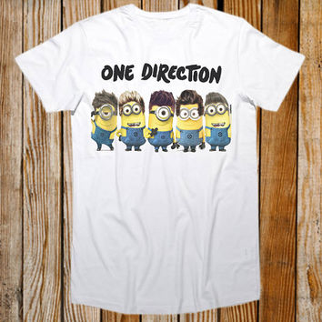 Favorite Designs 1D Minions One Direction Tour ScreenPrint T shirt Mens and T shirt Girl