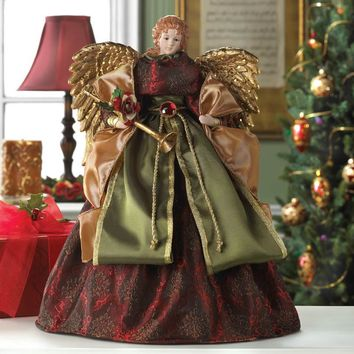 Country Christmas-Vintage Angel Doll Tree Topper