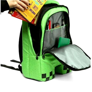 Minecraft Backpack Unisex Creeper Backpacks Fashion High Quality Travel Laptop School Backpacks GAME Gifts Minecraft Mochilas