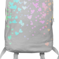 Gray With Love Backpack created by Christy Leigh | Print All Over Me
