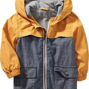 Color-Block Anoraks for Baby