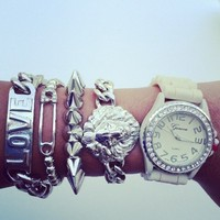 Silver Lion Watch Set  from Belle La Vie Boutique