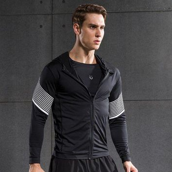 DCCKFS2 Fitness Compression Shirt Men Quick Dry running Shirt Long Sleeves Tshirt Fitness Clothing Bodybuild Crossfit T shirt