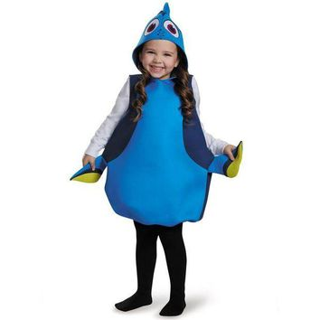 PEAPON Adorable Movie Finding Dory Girls Dory Classic Halloween Cosplay Carnival Party Costume