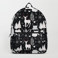 Merry Christmas-Simple X-mas Winter Forest Animals-Mix and Match with Simplicity of Life Backpack by simplicity_of_live