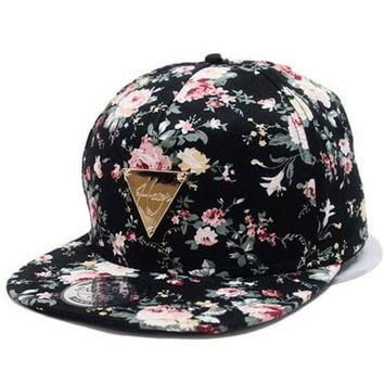 DCCKWJ7 Fashion Baseball Cap New Caps Snapback Floral Adjustable Baseball Women's Hat Sports Hip Pop Caps Hat Casquette Pokemon Bone