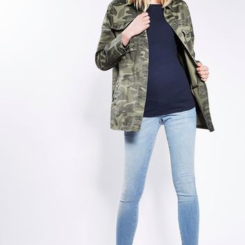 MATERNITY Camouflage Sampson Shacket - Maternity - Clothing