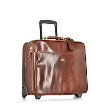 The Bridge Designer Travel Bags Story Viaggio Marrone Leather Pilot Case