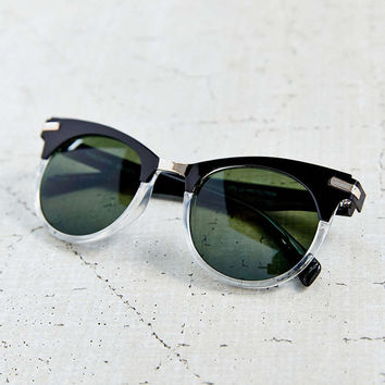 COME AND GET ME CAT EYE SUNGLASSES- SLIVER