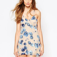 For Love and Lemons Marina Mini Dress In Floral