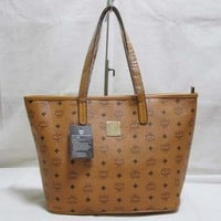 MCM Women Shopping Leather Handbag Tote Satchel Shoulder Bag