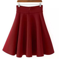 HOT RED AND BLACK SKIRT
