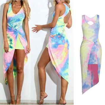 Women's Summer Boho Long Beach Dress Female