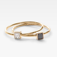 Square Diamond Stacking Pair