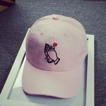 ulzzang Palm rose Strap Cap Adjustable Golf Snapback Baseball Hat Cap