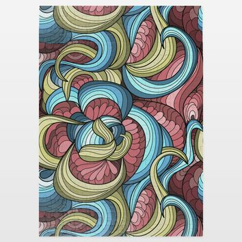 Red Blue Colored Coils Jigsaw Puzzle by Playedonwalls on BoomBoomPrints
