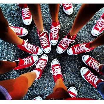 """Converse"" Trending Fashion Women Men canvas single shoes sports shoes sports shoes low Red G"