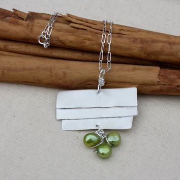 Handmade Sterling Silver Abstract Pearls by KittyStoykovich