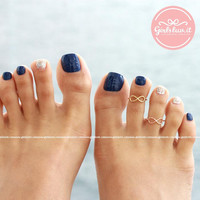 girlsluv.it - simple INFINITY toe ring, 3 colors