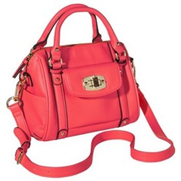 Merona® Mini Satchel Handbag with Removable Crossbody Strap - Neon Pink