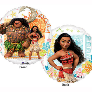 "Moana Balloon 17"" Foil Mylar Birthday Party Decoration Supplies Centerpiece Backdrop Photo Prop Supply"
