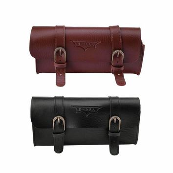Bicycle Frame Bag PU Leather Cycling Bag Saddle Pouch Pannier