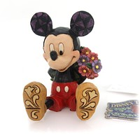 Jim Shore Mini Mickey With Flowers Figurine