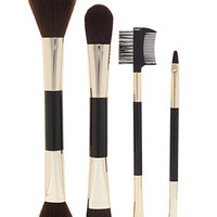 Striped Cosmetic Brush Set