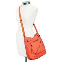 Mossimo Supply Co. Washed Crossbody Tote - Orange
