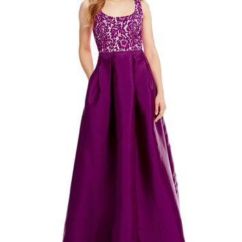 Sangria Scoop Neck Ball Gown | Dillards