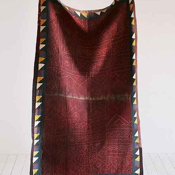 One-of-A-Kind Kantha Throw Blanket- Multi One