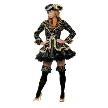 Sexy Pirate Costume Adult Women Halloween Carnival Cosplay Caribbean Pirates Fancy Dress Fantasia Stage Performance Uniforms