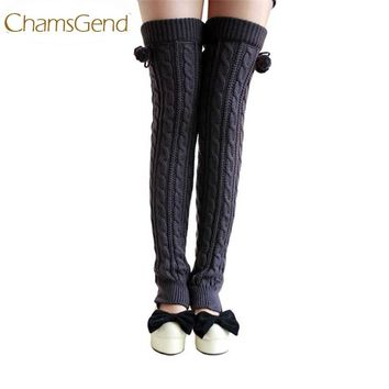 Chamsgend Newly Design Winter Leg Warmers Long Over Knee Thigh High Boot Cover Knit Socks Aug10 Drop Shipping