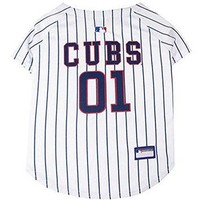 Pets First MLB Chicago Cubs Dog Jersey, Large